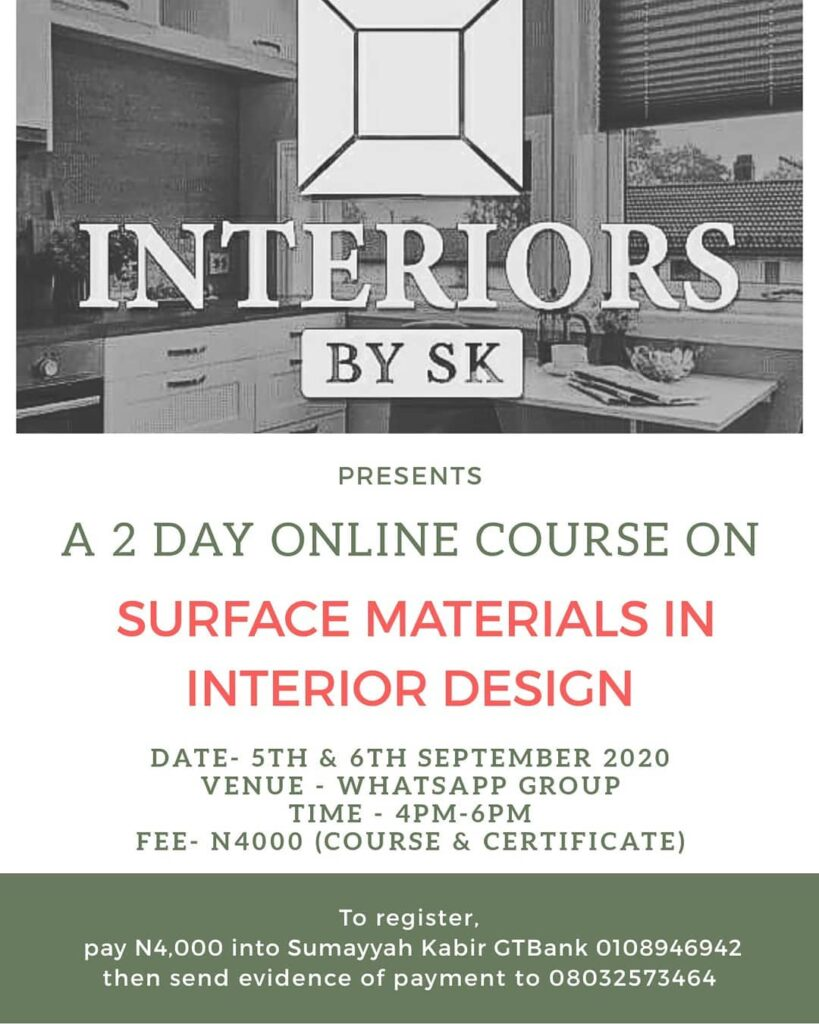 Surface Materials in Interior Design